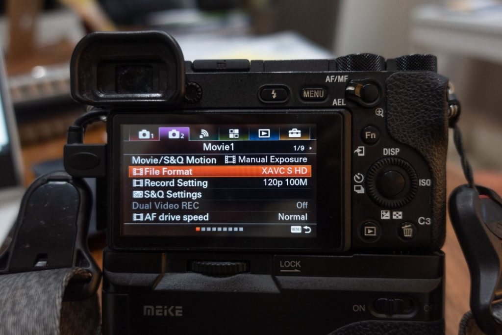 File Format Setting - how to shoot slow motion with sony a6500 - witandfolly.co