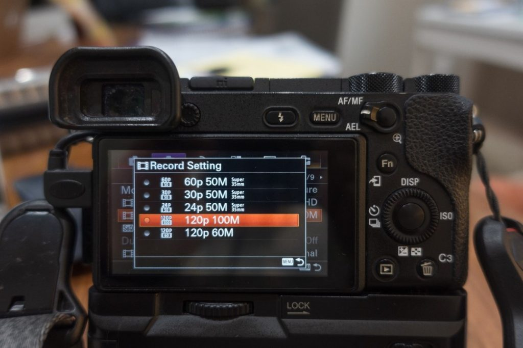 Record setting selection menu - how to shoot slow motion with sony a6500 - witandfolly.co