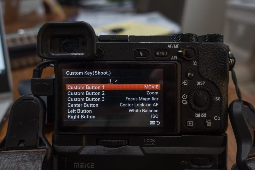 custom button menu 1 - how to shoot slow motion with sony a6500 - witandfolly.co