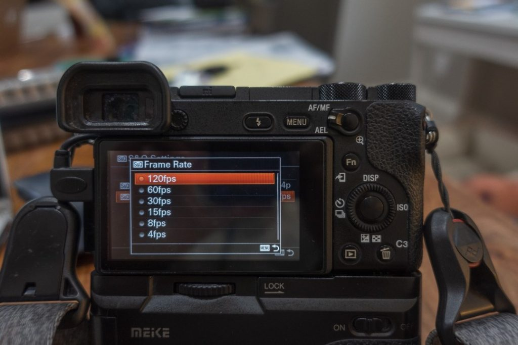 s&q frame rate menu - how to shoot slow motion with sony a6500 - witandfolly.co