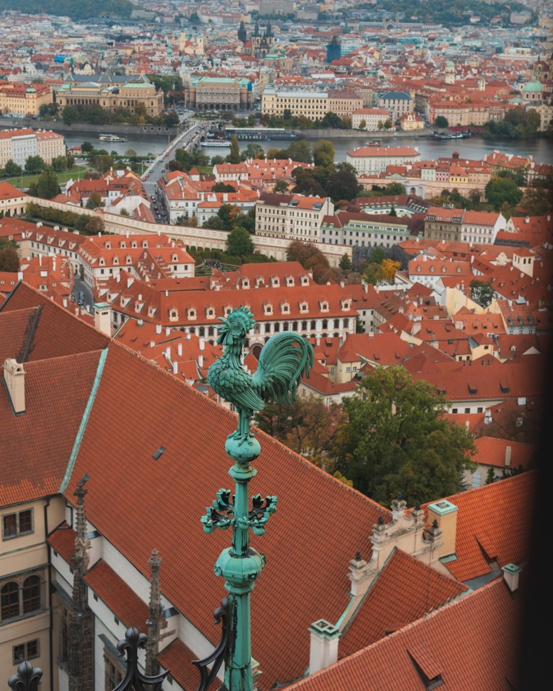 photo of view from the top of south tower in prague