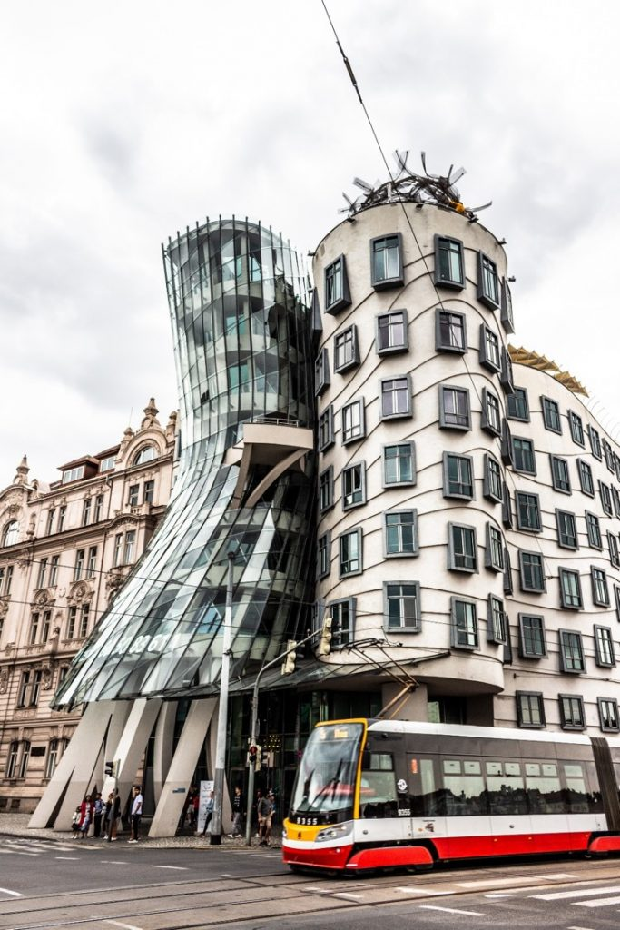 image of the dancing house in prague
