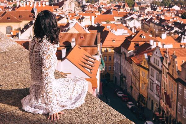 Prague roof top view