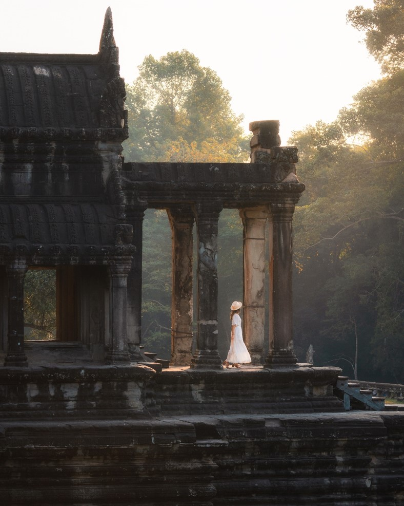 Angkor Wat South Side at Sunrise Picture 2 - witandfolly.co