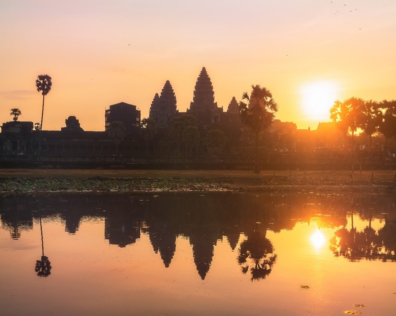 Angkor Wat Sunrise Orange Colors - witandfolly.co