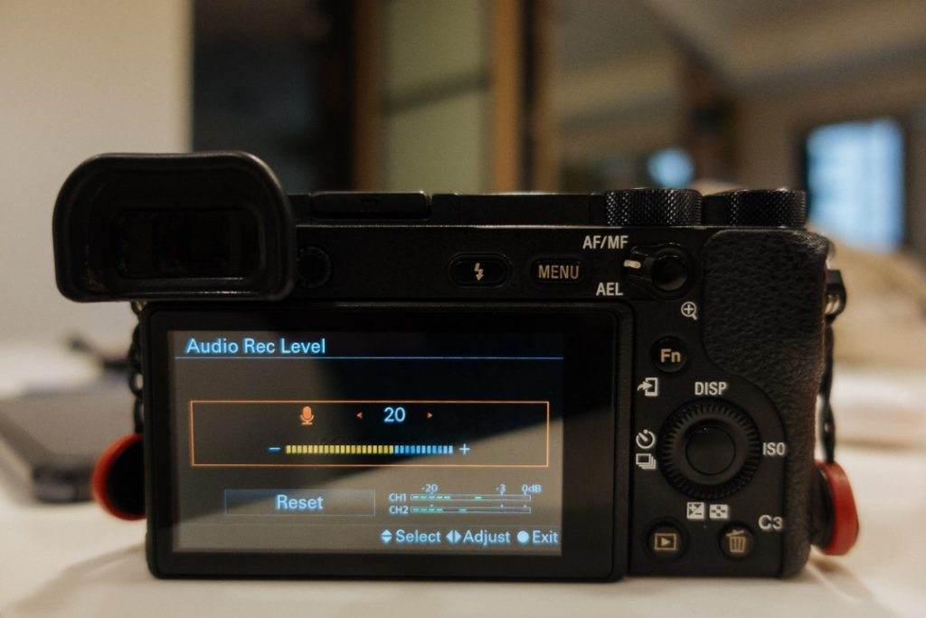 Audio Rec. Level Menu - sony a6500 audio settings - witandfolly.co
