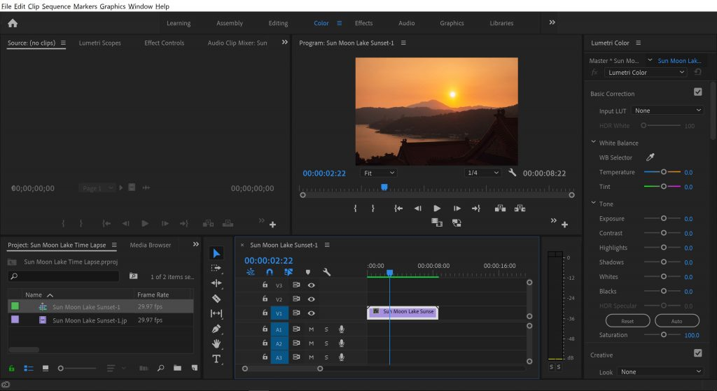 Create New Time Lapse Sequence Adobe Premiere