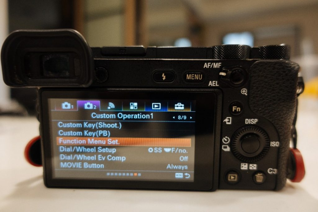 Function Menu Set on Sony a6500 - sony a6500 audio settings - witandfolly.co