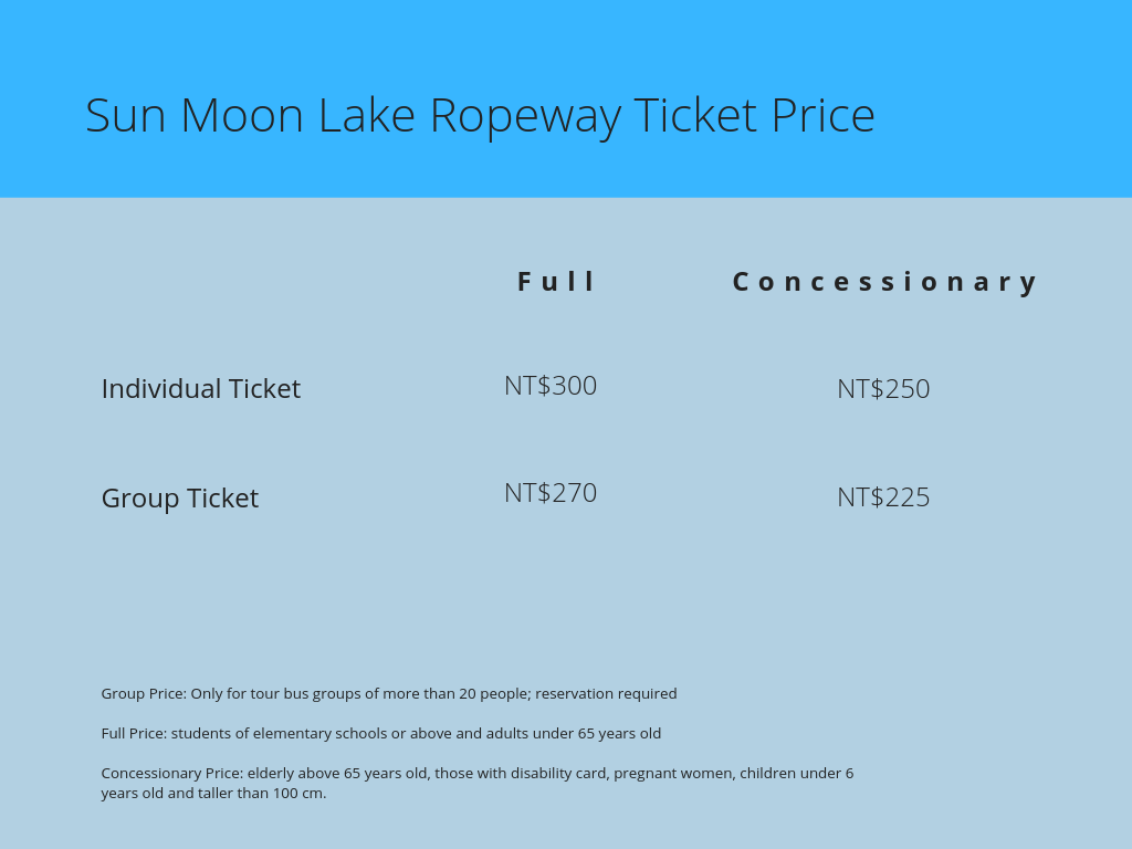 Sun Moon Lake Ropeway Ticket Price - witandfolly.co