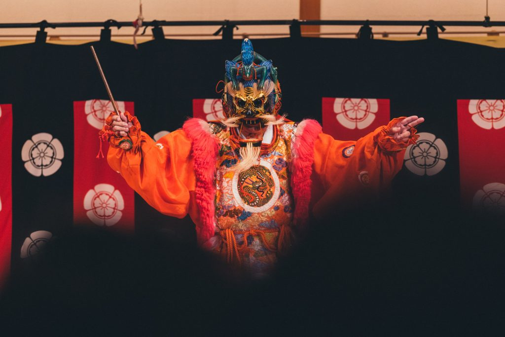 image of a theater performer in japan