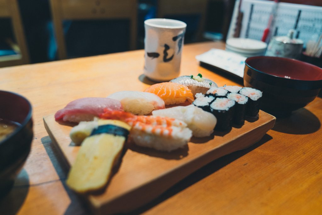 image of sushi in japan