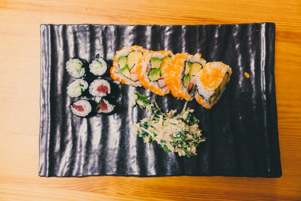 image of plate of sushi