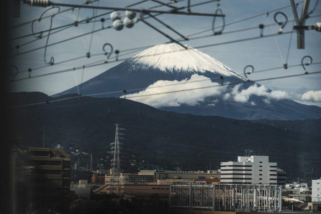 image of fuji from shinkansen