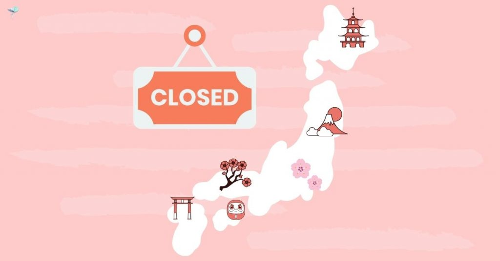 illustration of japan isolated from world