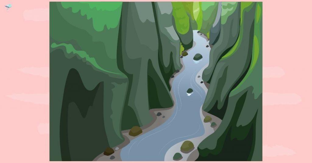 illustration of a gorge