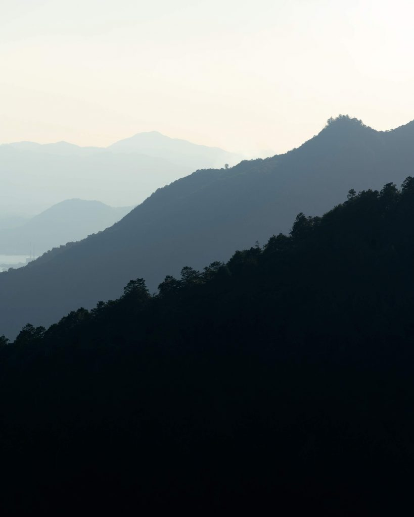 image of mountain layers in japan