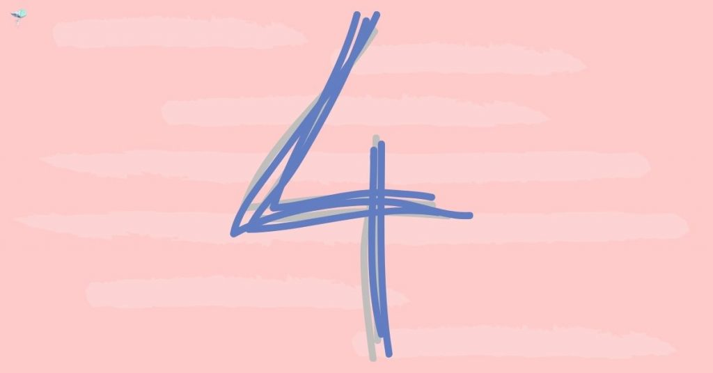illustration of the number 4