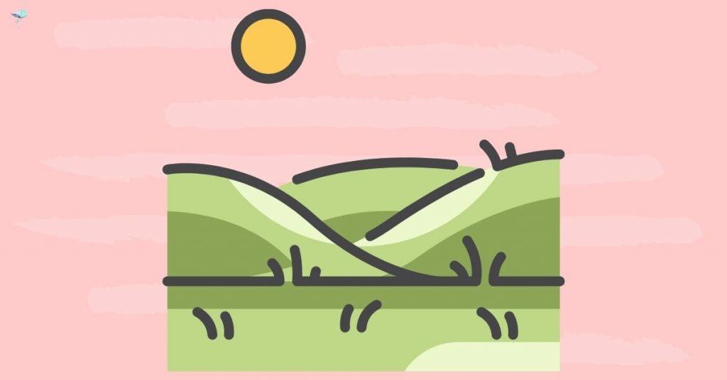 illustration of grasslands