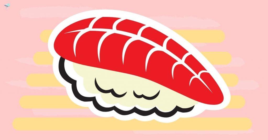 illustration of a piece of sashimi