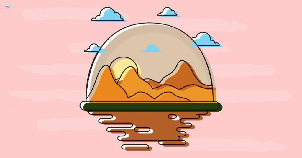 illustration of sand dunes in a circle