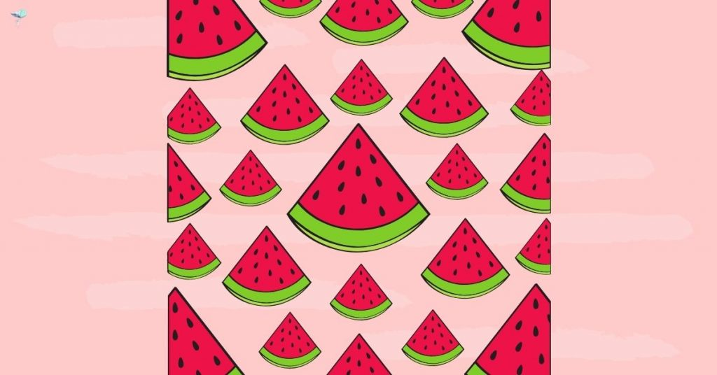 illustration of a watermelon wall paper