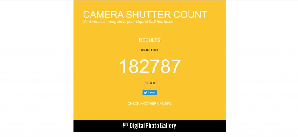 camerashuttercount.com screenshot #4