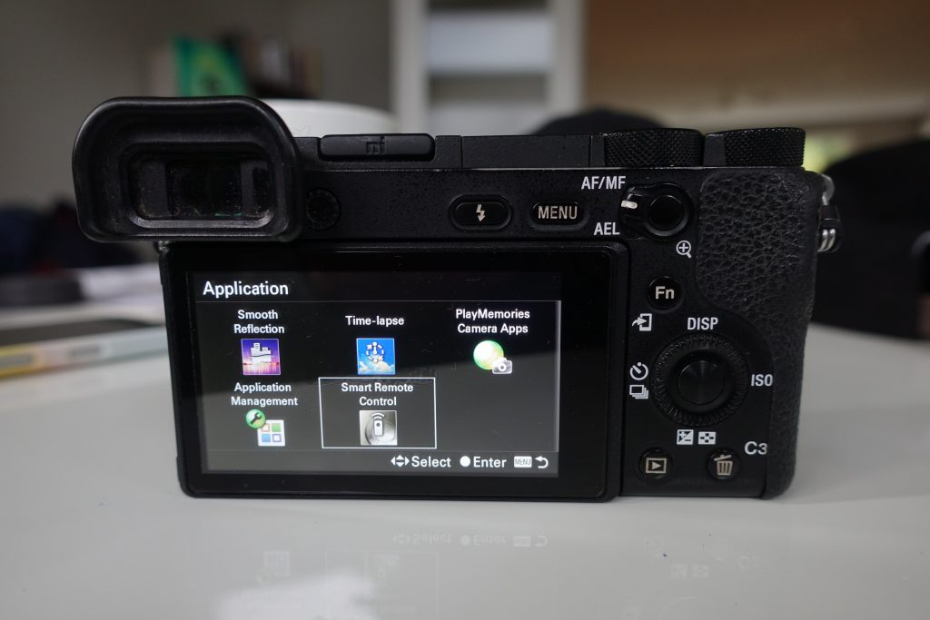 application list dashboard for sony a6500