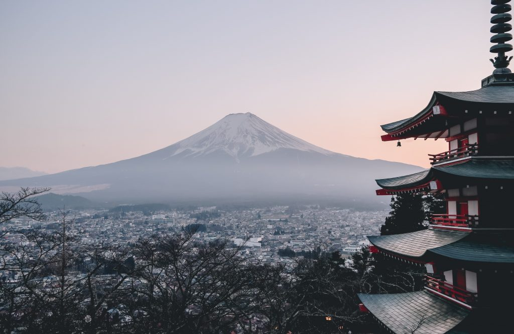 chureito pagoda mount fuji view