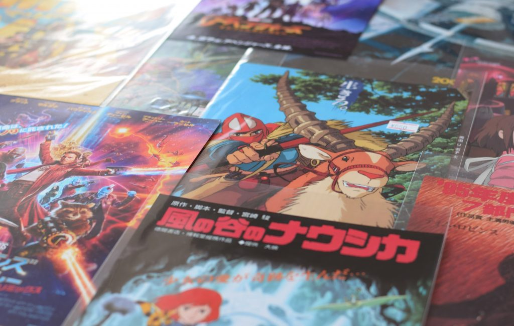 photo of anime posters in japan