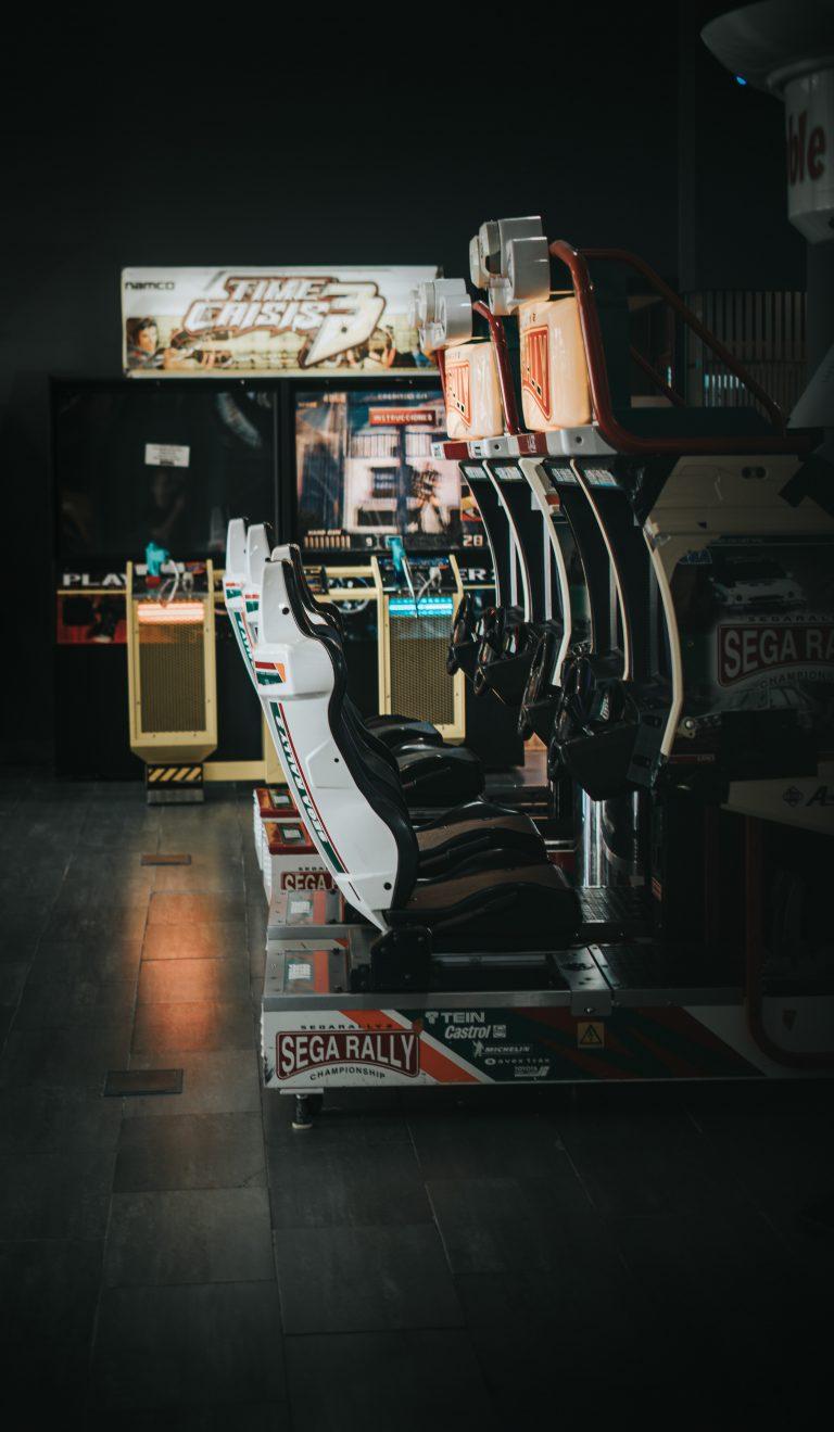 racing car game at sega joypolis