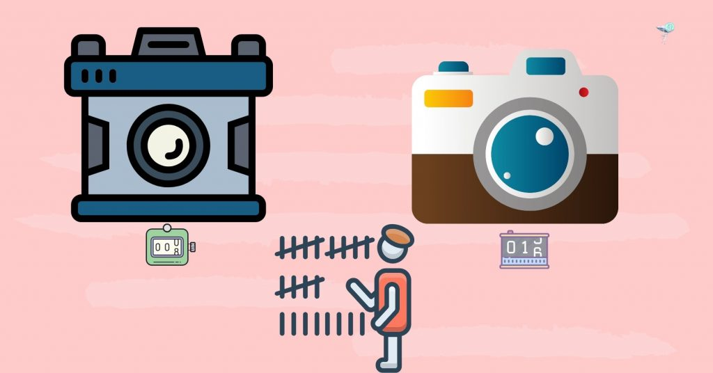 illustration showing different shutter counts on camera