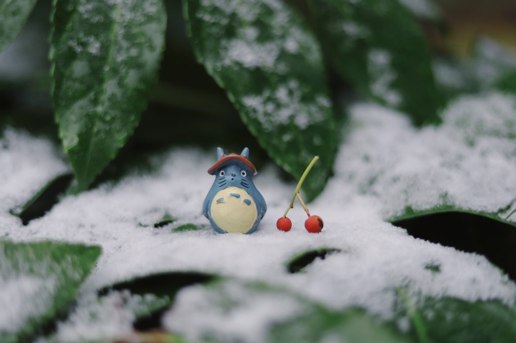picture of totoro in the snow