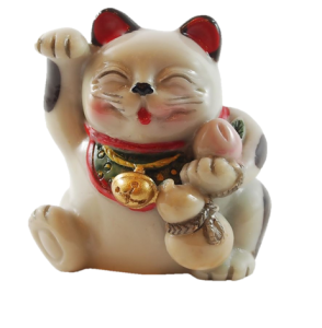 image of maneki neko with gourd