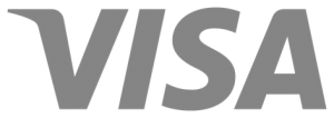 visa logo in grayscale