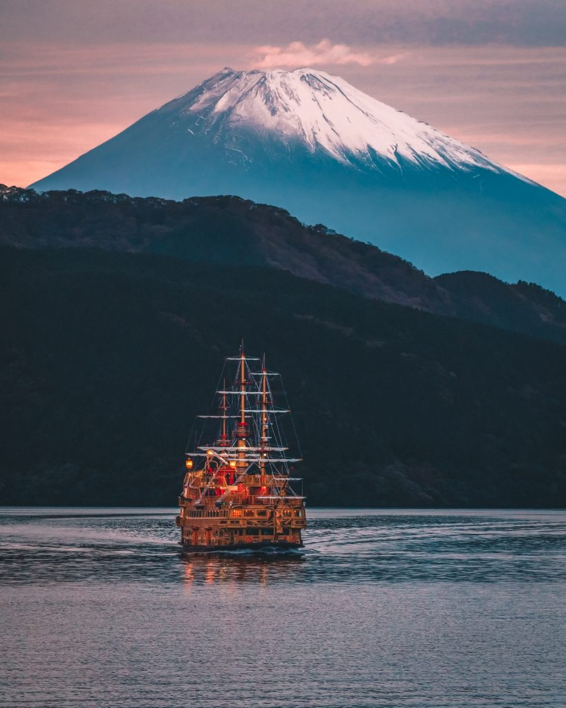 Mt Fuji with Pirate Ship