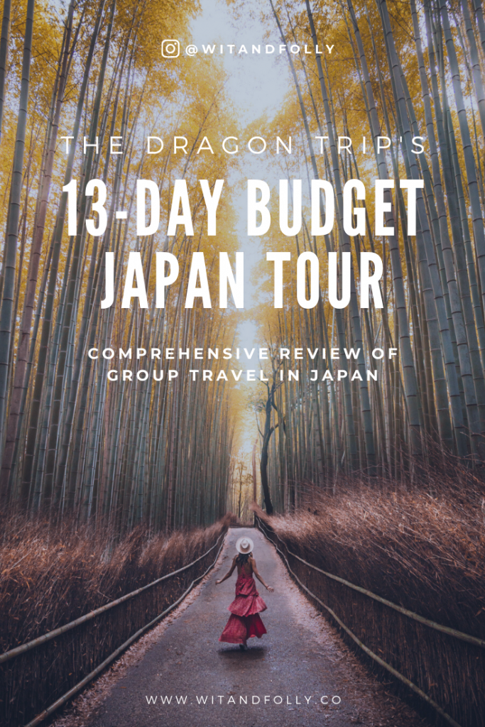 Pinterest Pin for 13-day Budget Japan Tour with The Dragon Trip