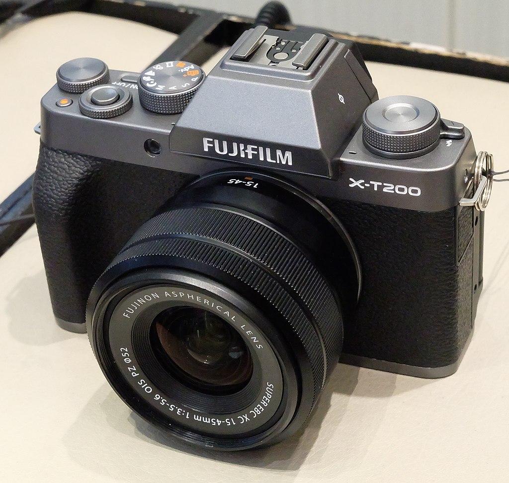 image of fujifilm x-t200 on desk