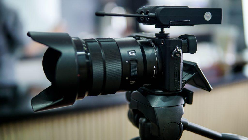 photo of camera on a tripod
