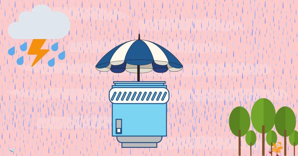 illustration of lens weather sealing