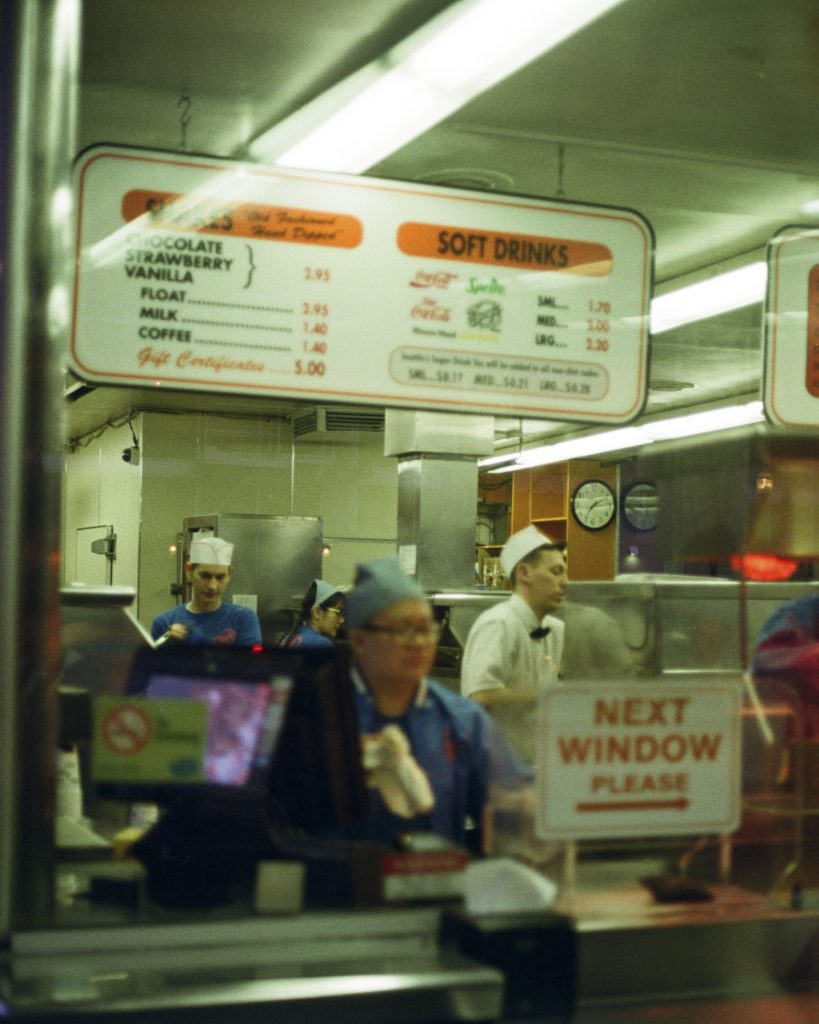 image of inside of a hamburger stand