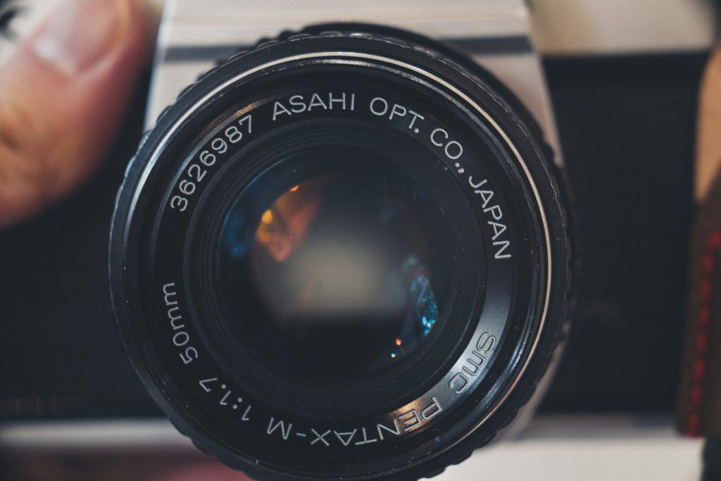 up close of pentax k mount lens