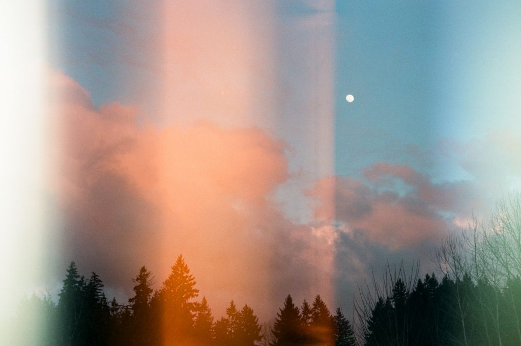 picture of light leak on a film photo