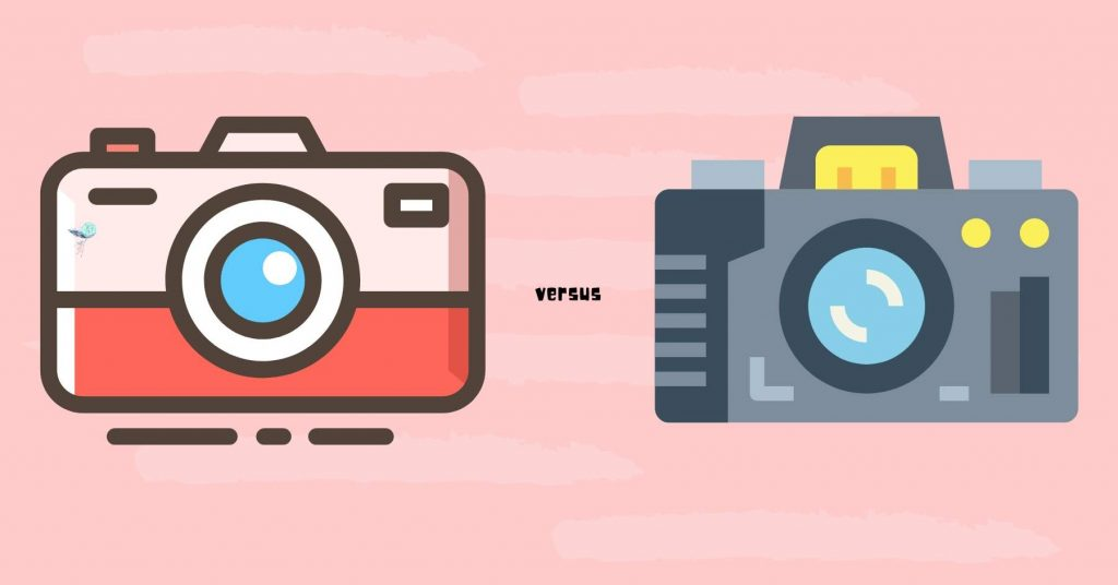 comparison between 2 different cameras