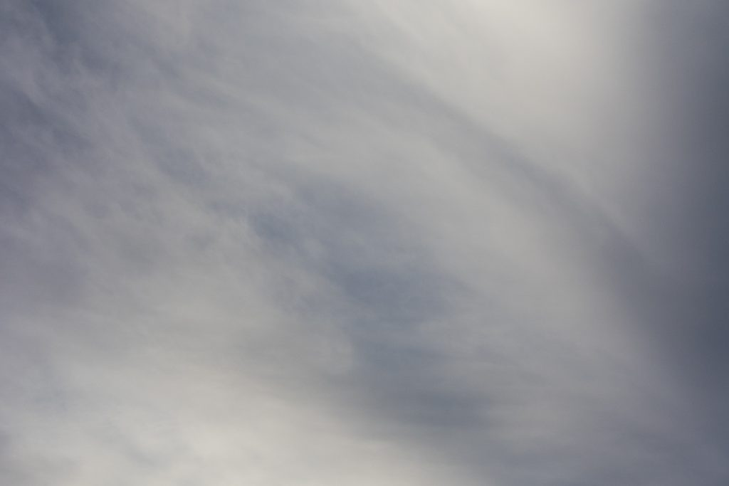 example of cross polarization in the sky from nd filter