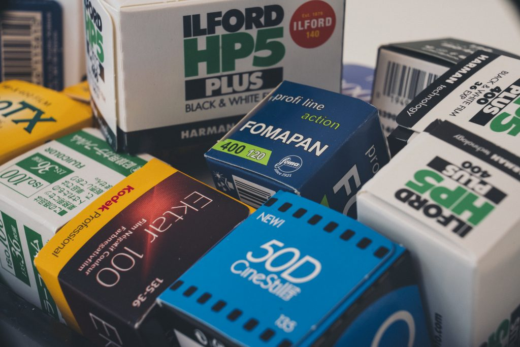 photo of many different film stocks