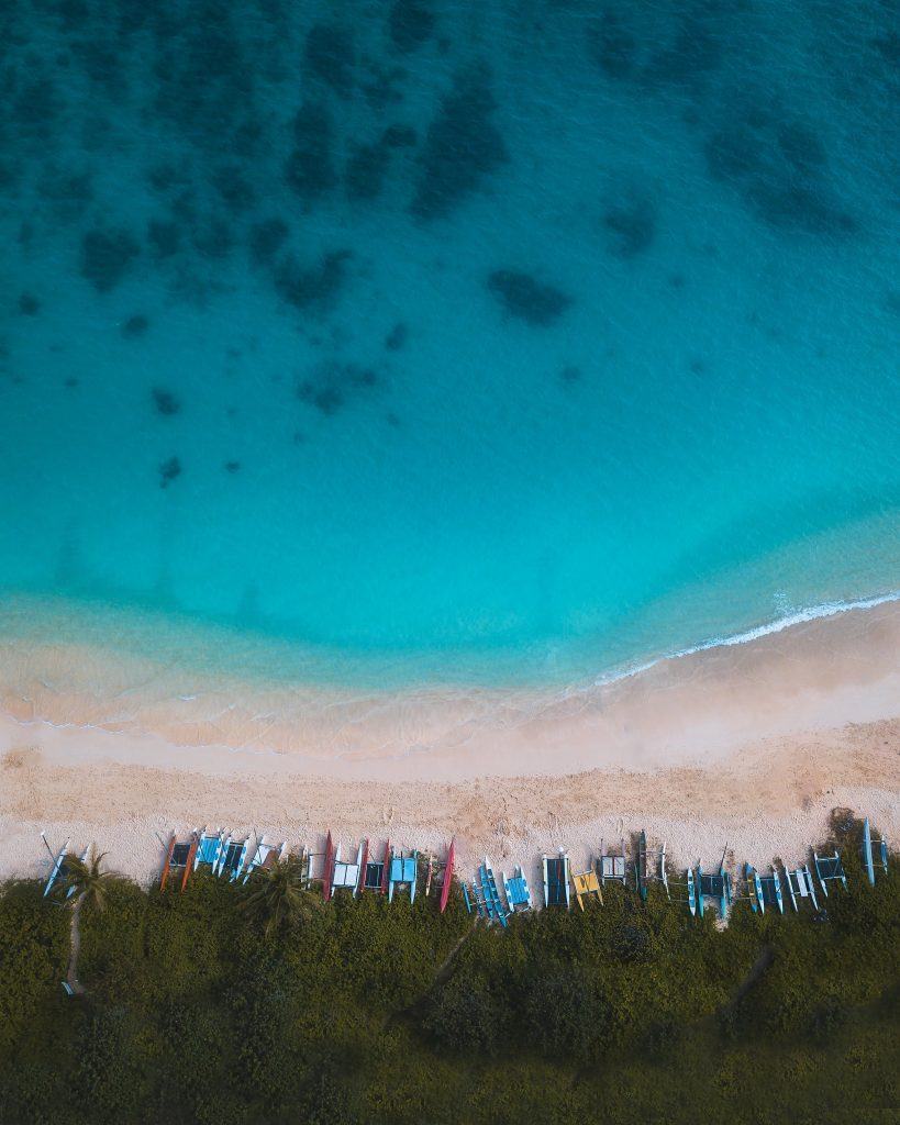 lanikai beach from birds eye view