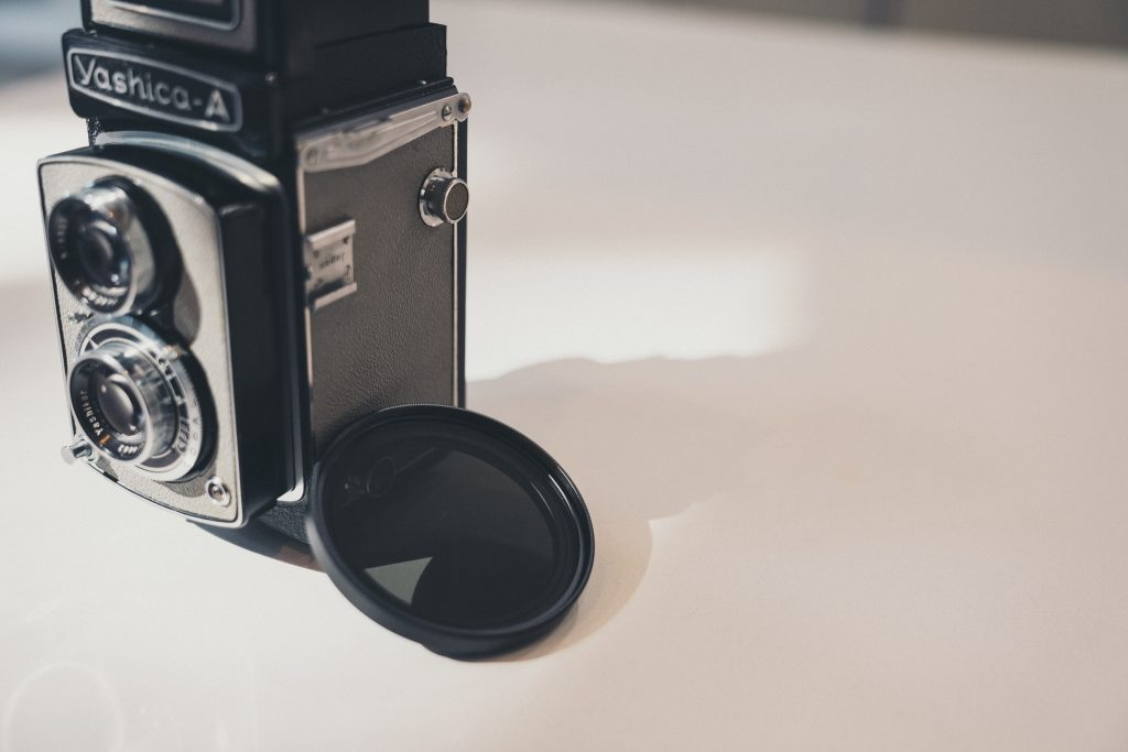 nd filter on the side of yashica a camera