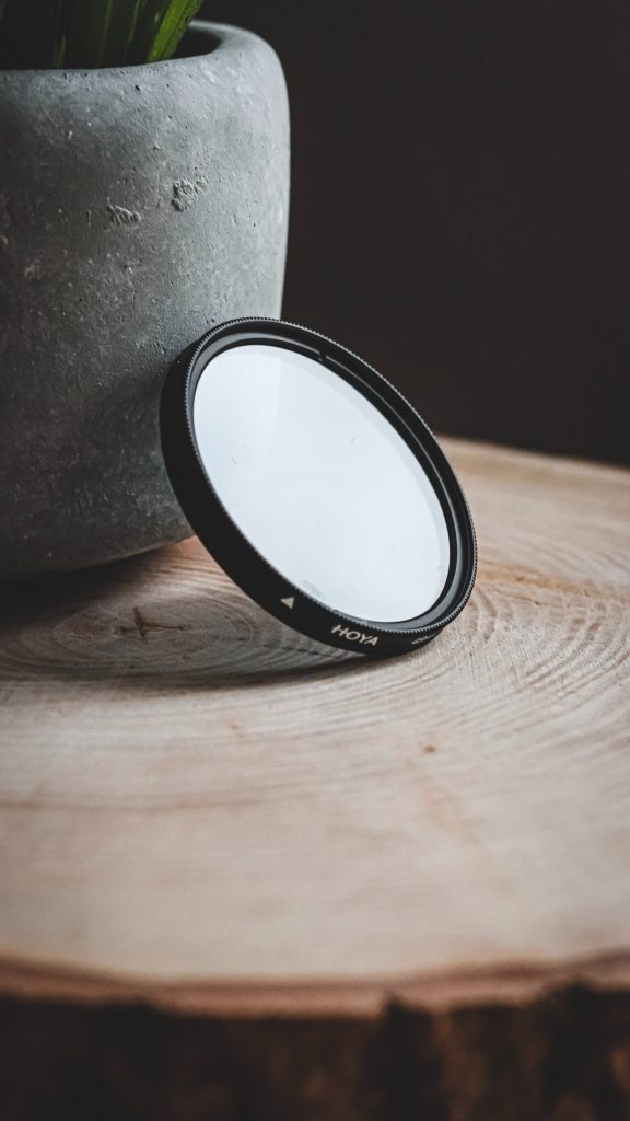 photo of variable nd filter on log