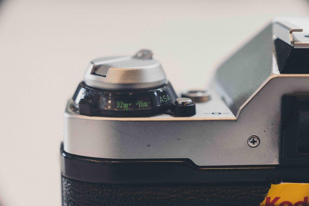 up close image of camera dial