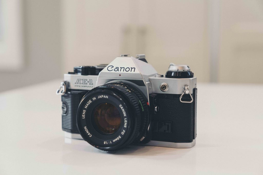 image of camera on white table
